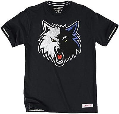 Mitchell & Ness Minnesota Timberwolves Tailored Logo NBA Camiseta de Negro