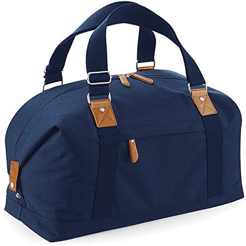 Bagbase Unisex Vintage Overnighter Bag Navy