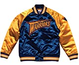 Mitchell & Ness NBA Satin College Jacke Tough Season Golden State Warriors mavy/orange XL