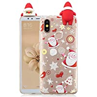 Everainy Xiaomi Mi 6X/Xiaomi Mi A2 Silikon Hülle 3D Weihnachts dünn Durchsichtig Hüllen Handyhülle Gummi Xiaomi... preisvergleich bei billige-tabletten.eu