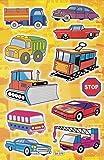 Strassenbahn LKW Autos Bus Aufkleber 11teilig 1 Blatt 270 mm x 180 mm Sticker Basteln Kinder Party