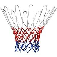 TRIXES Red de Baloncesto de 12 Lazos de Nylon Rojo/Blanco/Azul