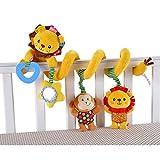iKulilky Baby Spielzeug Multifunktionales Weichem Plüschtier Neugeborenes Spielzeug für Kinderwagen,Kinderbetten Ab 0 Monaten - Löwe