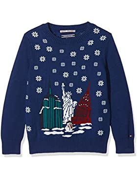 Tommy Hilfiger H Jacquard Sweater L/S, Suéter para Niños