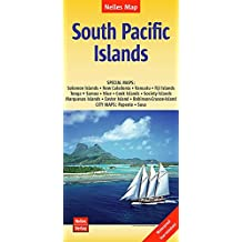 South Pacific Islands nel.map Salomon-N.Cal-Vanuatu-Fiji