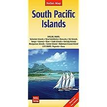 Nelles Map Landkarte South Pacific Islands: 1:13.000.000 | reiß- und wasserfest; waterproof and tear-resistant; indéchirable et imperméable; irrompible & impermeable