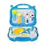 Valigetta Dottore Giocattolo Borsa Dottore Gioco Kit Set 10 Pezzi per Bambini 3 Anni