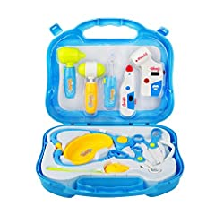 Idea Regalo - Valigetta Dottore Giocattolo Borsa Dottore Gioco Kit Set 10 Pezzi per Bambini 3 Anni