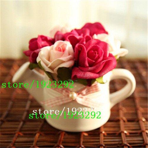 Galleria fotografica grande vendita Porcellana rare semi di fiore della Rosa Nera 100pcs di alta qualità Facile da semi di piante da giardino della famiglia La Rosa Negra Se