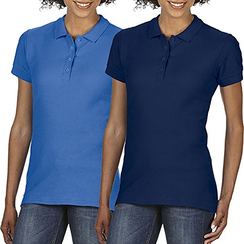Gildan Work - Polo - Femme Royal and Navy Blue