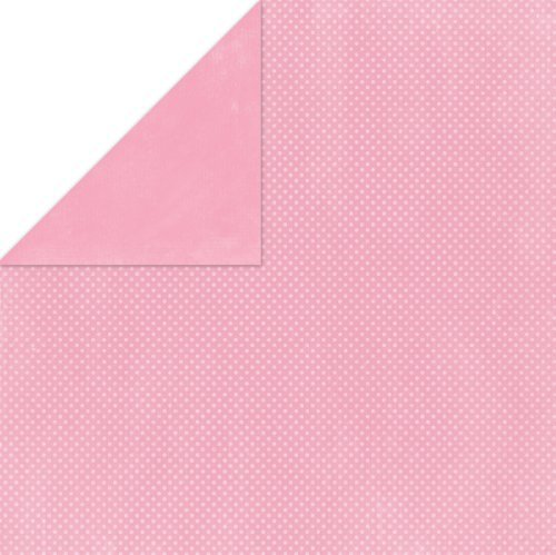BoBunny Double Dot Double-Sided Textured Cardstock 12x12-Passion Fruit 25 per pack by Bo Bunny -