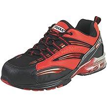 KS Tools 310.1650 - Zapatillas de seguridad con suela de aire, talla 47, color rojo