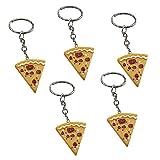 Cosanter Simulation Pizza Schlüsselanhänger Freude Geschenk Schlüsselbund Anhänger für Schlüssel Tasche
