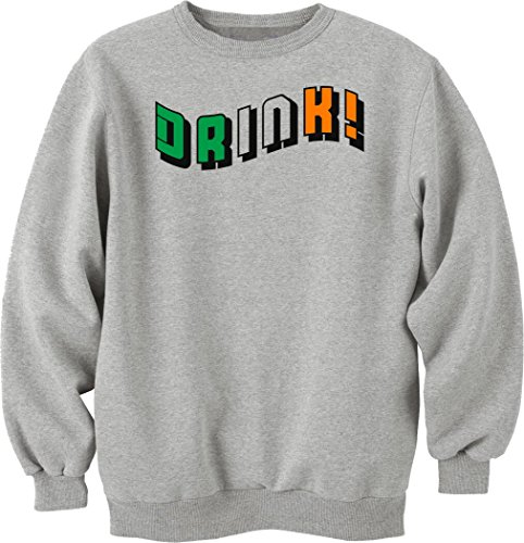 Irish flag colors drink logo funny dope Sweatshirt pullover unisex XX-Large (Flag Irish Sweatshirt)