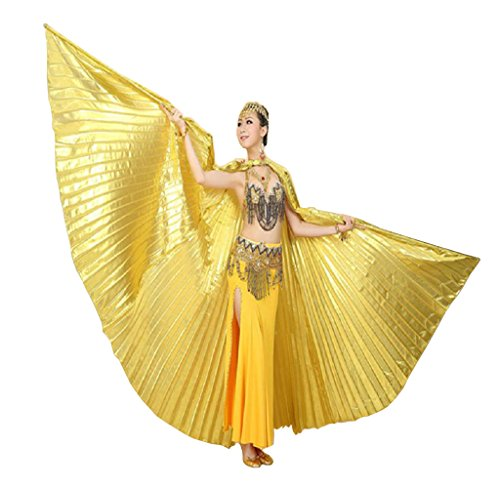 Über Bauchtanz Kostüm Den - Ukamshop 1PC Ägypten Bauchtanz -Kostüm Flügel Bauchtanz Zubehör Maskenspiel Keine Sticks (Gold)