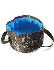boldion £ ¨ TM £ © 15L portátil al aire libre bolsa de agua plegable Oxford lavabo (para lavabo cuenco Camping pesca agua Carrier aparejos de pesca senderismo agua Pot, rosa (b)