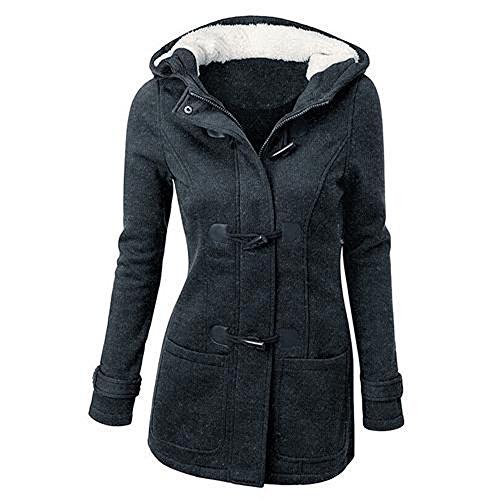 Damen Casual Mantel Jacke Hoodies Outerwear Sweatjacke Sweatshirt Kapuzenpulli Overcoat