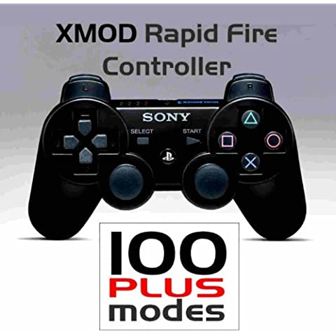 PS3 - PlayStation - SONY Dualshock 3 - Wireless Rapid Fire Modded Controller- XMOD Rapid Fire - 100 PLUS- COD GHOST, BLACK OPS - BLACK by XMOD ELECTRONICS