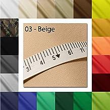 "1buy3 ""MONACO"" Tejido de poliéster impermeable | 500cm x 160cm | Columna de agua 12.000 mm Color 03 | Beige | Tejido de poliéster 160cm de ancho por metro impermeable EXTERIOR extremadamente resistente a la rotura cubierta de lona de PVC"