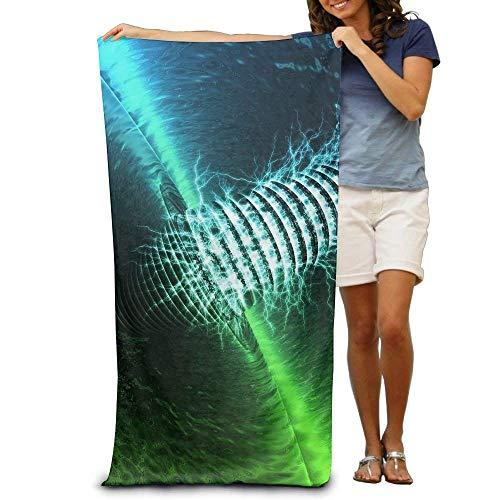 DEFFWBb Super Absorbent Beach Towel Green Neon Polyester Velvet Beach Towels 31