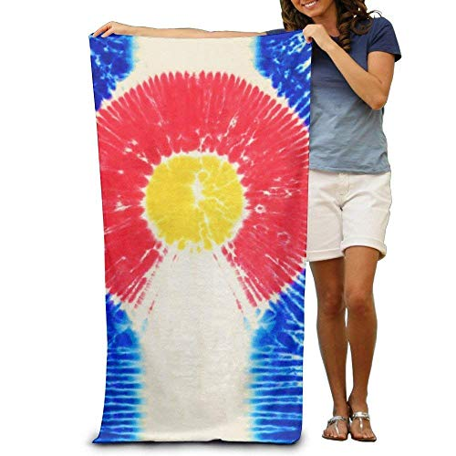 fgjfjhfjtyuj Tie Dye Colorado Flag Quick-Drying Pool Badetuch Travel Bath Handtuch for Adults 31x51 (Tie Dye Sonnenbrille)