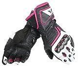 Dainese Carbon D1 Long Damen Motorradhandschuhe L Schwarz/Weiß/Pink