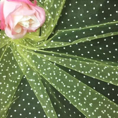 Lace Crafts - 1 Yard/Lot Medium Hard Beflockung Wasserjade 0,3 cm Polka Dot Mesh Lace Stoff DIY Kostüme Bühne Puppe Kleid Schleier Kopfbedeckung Stoff hellgelb (Lace Mesh Kostüm)