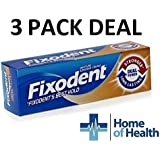 Fixodent Denture Adhesive Cream Dual Power 40g **3 PACK DEAL** by Fixodent