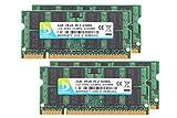 DUO MEIQI 1GB*4 2R*8 DDR4 PC 2-4200S DDR2 533MHz SODIMM High Arbeitsspeicher Kit, Blau Ungepufferter Nicht-ECC Doppelkanal Notebook Speicher Laptop RAM-Modul für Intel AMD und Mac System (1GB*4, Blau)