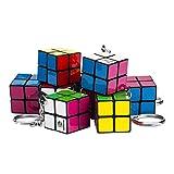 Cubikon 10 Stück Mini 2x2 Zauberwürfel als Schlüssel-Anhänger - z.B. Geburtstags-Mitgebsel - Firmengeschenke - Kindergeburtstag