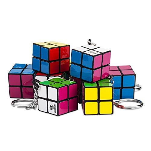 Cubikon 10 Stück Mini 2x2 Zauberwürfel als Schlüssel-Anhänger - z.B. Geburtstags-Mitgebsel - Firmengeschenke - Kindergeburtstag - Es Mini-anhänger