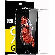 Verre Trempé iPhone 6 / 6S, NEWC® Film Protection en Verre trempé écran Protecteur Vitre- ANTI RAYURES - SANS BULLES D'AIR -Ultra Résistant Dureté 9H Glass Screen Protector pour iPhone 6 / 6S