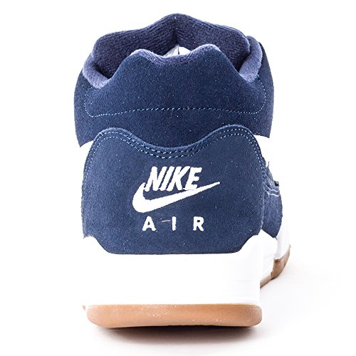 Nike Herren Flight Squad Basketballschuhe, Schwarz Blau / Weiß (Obsidian/Weiß-Gum Med Brown)