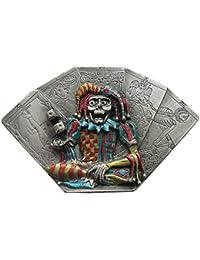 Buckle Tarot Karten mit Totenkopfharlekin