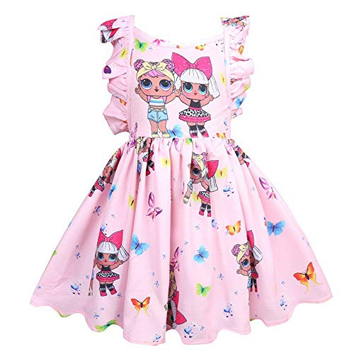 OL Rock Tutu Kleinkind Kinderkleidung Geburtstagsgeschenk Party Kostüm Alter 3-8 Jahre,Pink,120cm ()