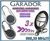 3 X GARADOR (HÖRMANN) HSD2-A / HSD2-C Kompatibel Handsender, Ersatz sender, 868.3Mhz fixed code, Klone