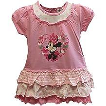 Vestido Minnie Disney para niñas manga corta color Rosa18 meses