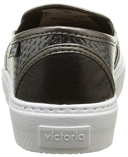 Victoria Slip On Tej Trenza Metalizado, Baskets mode mixte adulte Gris (15 Plomo)
