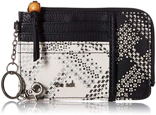 The SAK Damen Iris Card Wallet-Plaid Geldbörse, Black/White Floral, Einheitsgröße -