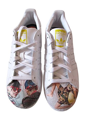 Adidas Originals Superstar Pharrell Supershell Mens degli addestratori delle scarpe da tennis (UK 4, bianco- Supershell Persone