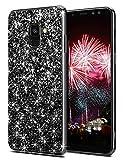 Coolden Samsung Galaxy A8 2018 Hülle,3D Glitzer Bling Sparkle Hardcase Stoßfest Schutzhülle Soft Premium TPU Bumper Ultra Schlank Handyhülle für Samsung A8 2018 (Schwarz)