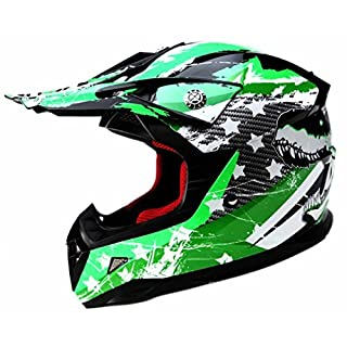 Motocross Motorradhelm Downhill Fullface Helm - Yema YM-211 Cross DH Enduro Quad Mountainbike BMX MTB Helm ECE für kinder-L