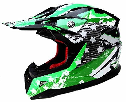 Casco Moto Bambino Motocross Integrale - YEMA YM-211 Caschi Bambini Motard Cross Integrali Downhill DH ECE Omologato Ragazza Ragazzo, L