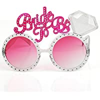 Trixes Polterabend - Rosa getönte Brautbrille Neuheit Bride to be Brautparty Diva Brille - Polterabend / Hen Party / Bachelorette Party