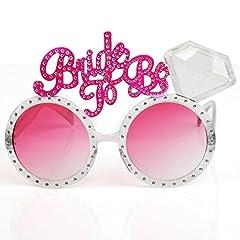 Idea Regalo - TRIXES Occhiali per Addio al Nubilato - Occhiali di Colore Rosa con Scritta
