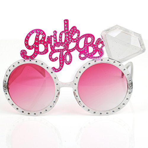 Trixes Polterabend - Rosa Getönte Brautbrille Neuheit Bride to be Brautparty Diva Brille - Polterabend / Hen Party / Bachelorette Party