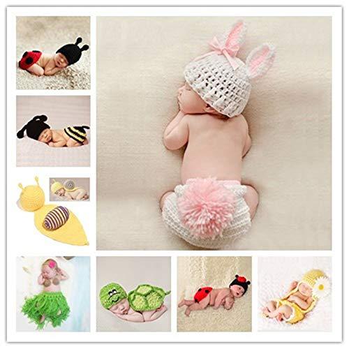 Niedliche Kostüm Neugeborene Für - Yichener Baby-Kostüm für Neugeborene, gehäkelt, gestrickt, Requisiten, Foto-Requisiten, für Neugeborene, Mädchen, niedliches Outfit 0-12 Monate