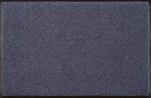 wash+dry Fußmatte Stahlblau 60x90 cm -