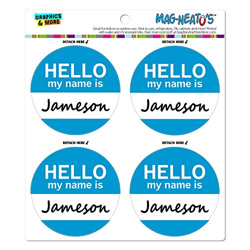 jameson-hello-my-name-is-mag-neatostm-automotive-car-refrigerator-locker-vinyl-magnet-set