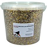Britten & James All in One High Protein No Mess wild bird seed WITH ADDED MEALWORMS. Feed freely all year round and especially in winter and spring. Recommended by The British Trust for Ornithology.